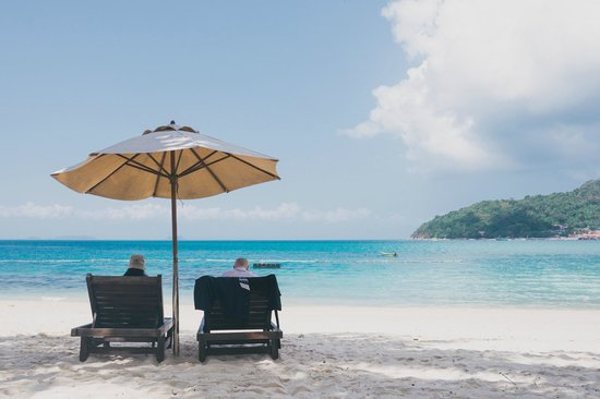 Perhentian Tuna Bay Island Resort: Pretty relaxing view right from the cafe