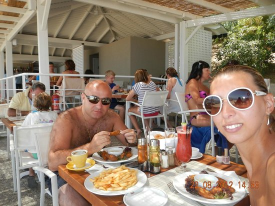MarBella Corfu Hotel: Beach Restaurant