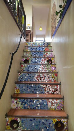 La Rose Bed & Breakfast: Artistic steps to La Rose