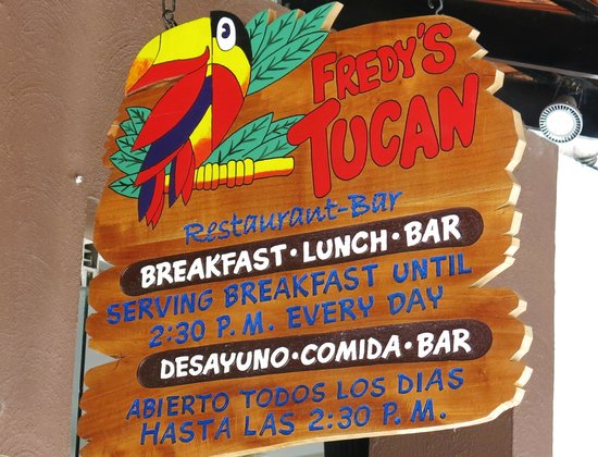 Fredys Tucan : Closes after lunch