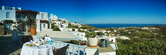 Petali Village Hotel: Panoramic view over Aegean sea