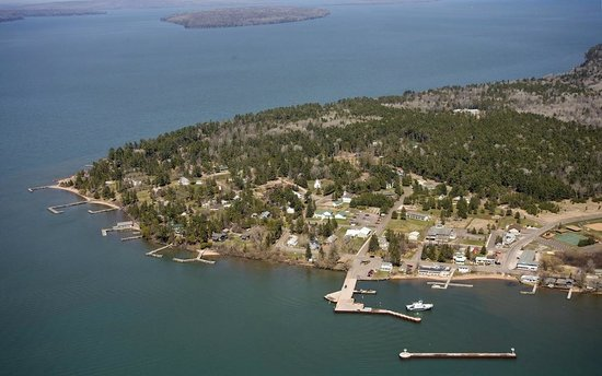 Madeline Island Museum Aerial View Of La Pointe Wi Lake Superior