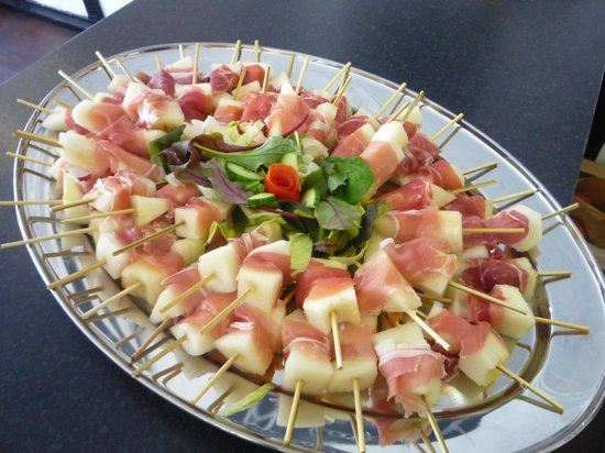 melon and parma ham canapes - Picture of Peg's Parlour, Godalming ...