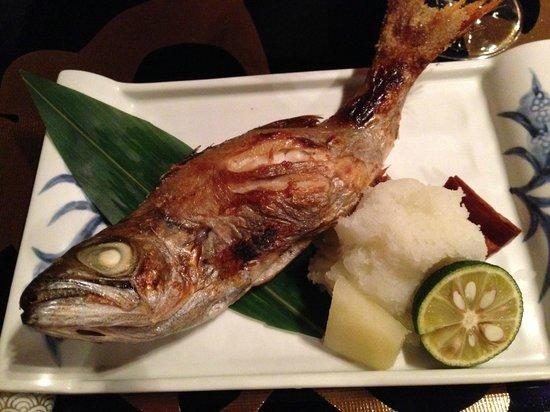 Yanmo Omotesando: 小むつの塩焼き