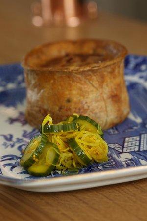 The Vine Goudhurst: pork pie and pickled cucumber