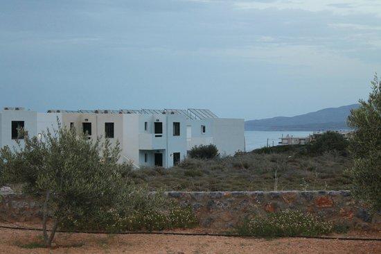 Mediterraneo Hotel: Вид из нашего номера на другое бунгало и частично море.
