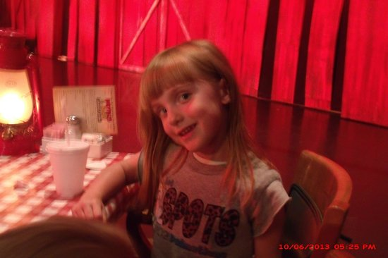 Hatfield & McCoy Dinner Show : Our middle granddaughter (4 years old at the time)