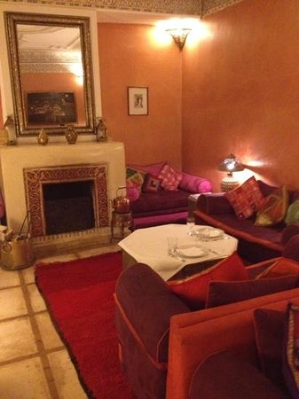 Dar el Souk: the very cosy comfortable lounge area