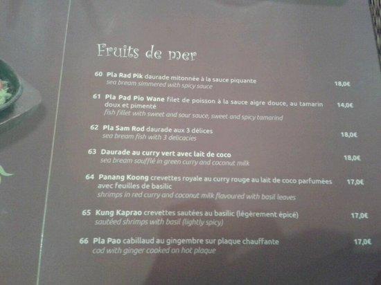 Thai Oria: Quelques exemples de plats de poissons