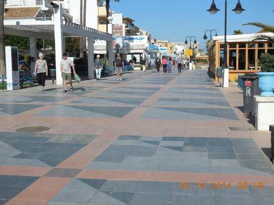 Sol Timor by Melia - Apartamentos: The boardwalk, or paseo - 7 miles long, all tiled, between hotel and the sea