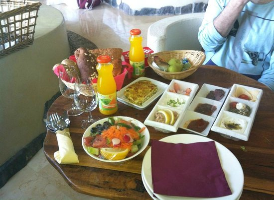 Kfar Haruv Peace Vista Lodge: The amazing breakfast we received