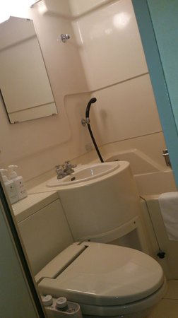 Dai-ni Sunny Stone Hotel: バスルームは標準的なサイズ