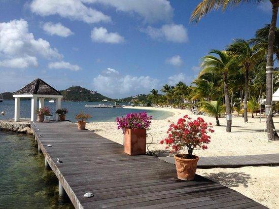 Hôtel Mercure Saint-Martin Marina & Spa : La plage de l'hôtel