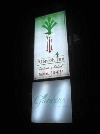 Albrook Inn: sign