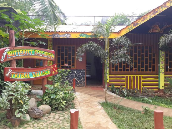 Shows the entrance of Palawan Butterfly Ecological Garden