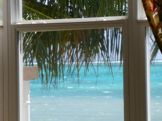 Grand Caribe Belize Resort and Condominiums : view out dining room window