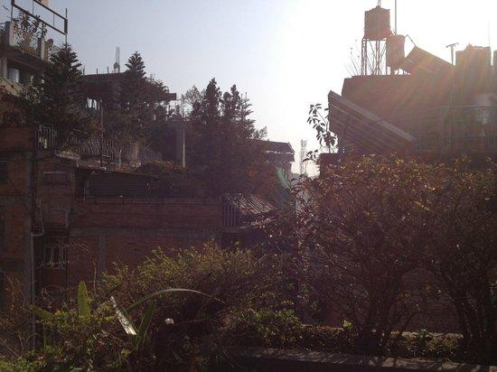 Hotel Florid Nepal : vue de la terrasse