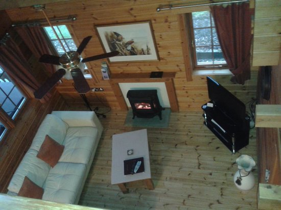 Luxury Lodges Wales: Upstairs balcony