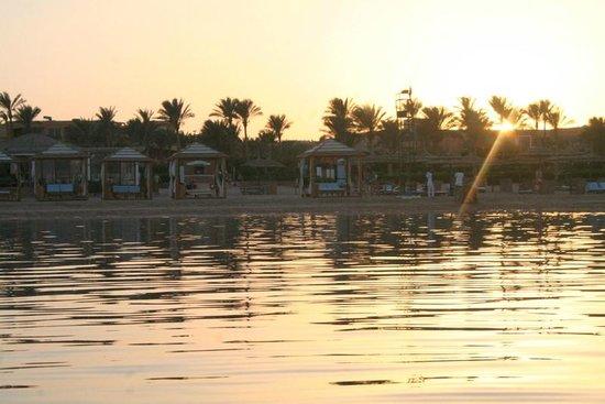 Amwaj Oyoun Hotel & Resort: Paddling and looking back