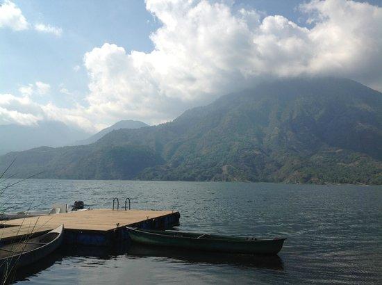 Posada de Santiago: View from dock
