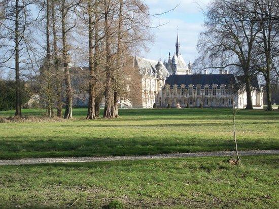 Château de Chantilly : vue du parc