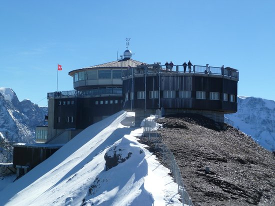 Schilthorn: Views of the Schiltorn from new viewing area in sept.2013