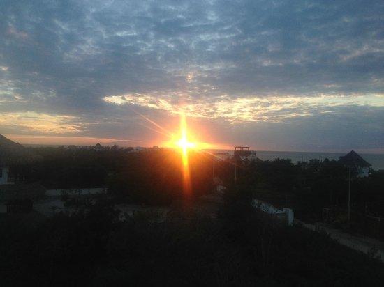 Casa Blat Ha: puesta del sol desde la azotea