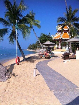 Fair House Villas & Spa : plage de l'hôtel
