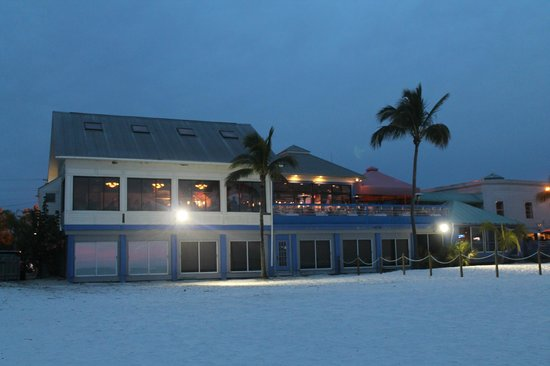 View of Fresh Catch Bistro from the beach