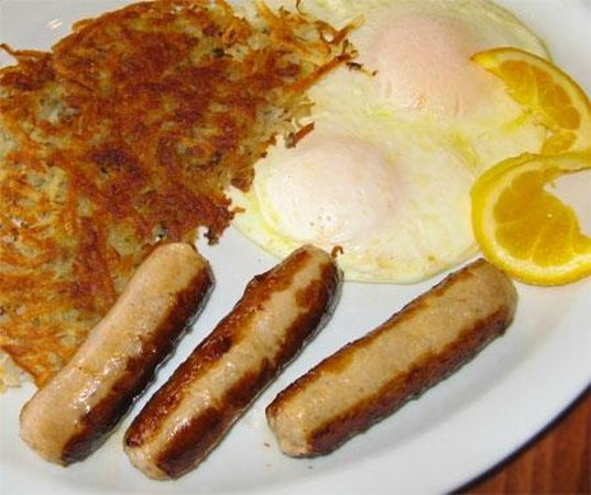Good Morning Cafe : Fresh Eggs, Hashbrowns and our Special Sausage Links