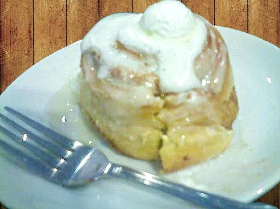 Good Morning Cafe : Warm Cinnamon Rolls with Cream Cheese Icing