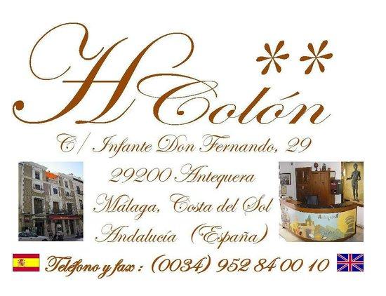 Hospederia Colon Antequera: Logotipo Hostal Colon Antequera
