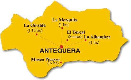 Hospederia Colon Antequera: Mapa de situacion Hostal Colon Antequera
