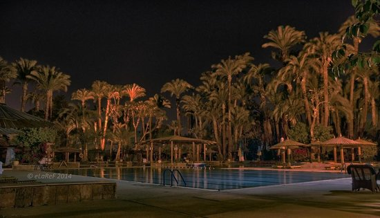 Pavillon Winter Luxor: Pool at Night