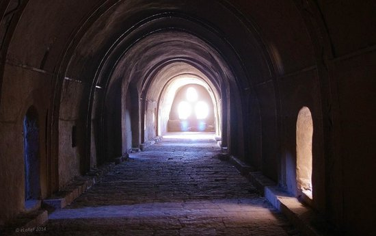 Monastery of St. Simeon : Main Corridor with Monk's cells off to either side