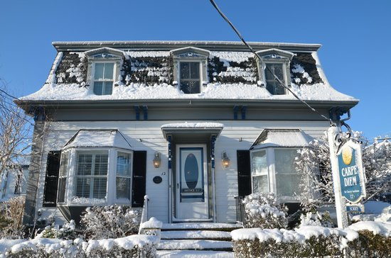 Carpe Diem Guesthouse & Spa : Das Carpe Diem im Schnee