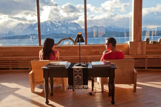 Tierra Patagonia Hotel & Spa: View from inside the hotel