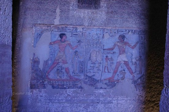 Qubbet el-Hawa : Nobles Tombs 25 & 26 - Detail