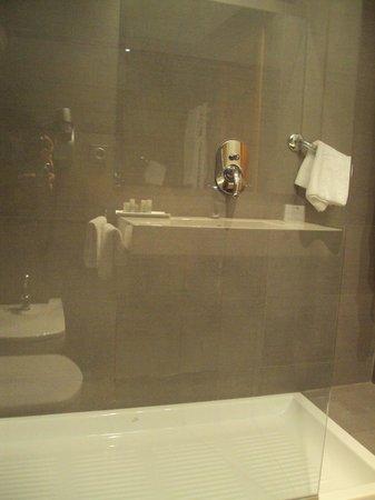 Hotel Jauregui : Baño de habitación doble estándar