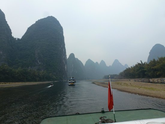 Li River: Mountains never eroded by glaciers, only rain water
