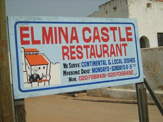 Elmina Castle: Local Restaurant