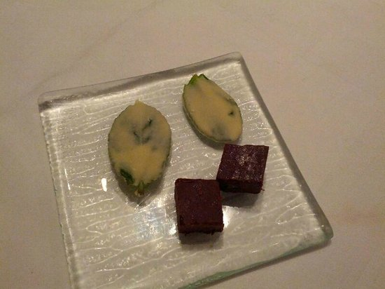 Tamarind : Petit fours - white chocolate hold basil leaf a must try!