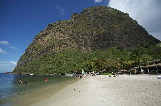 View of Petite Piton from Jalousie Beach