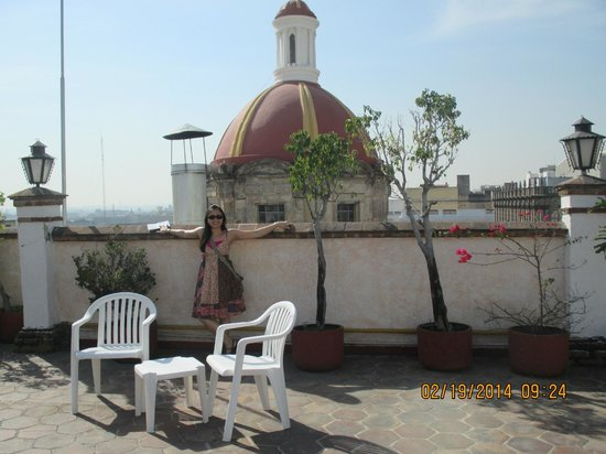 Hotel de Mendoza : Me on the hotel roof terrace
