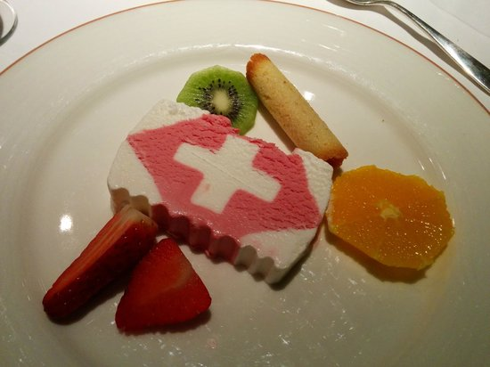 Hotel Parnass: exemple dessert servi