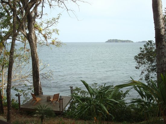 Isla Palenque: ocean view from Eden during lunch