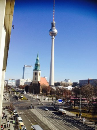 Radisson Blu Hotel, Berlin: TV tower view from room