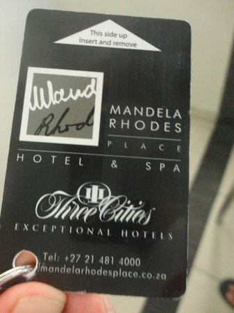 Mandela Rhodes Place Hotel & Spa: Chave