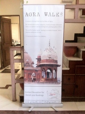 Agra Walks : Our Standee