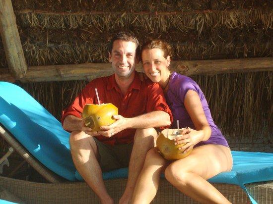The Resort at Isla Palenque: Happy couple at Los Rocas!